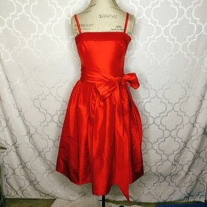 Ralph Lauren Red Fit Flare Evening Dress